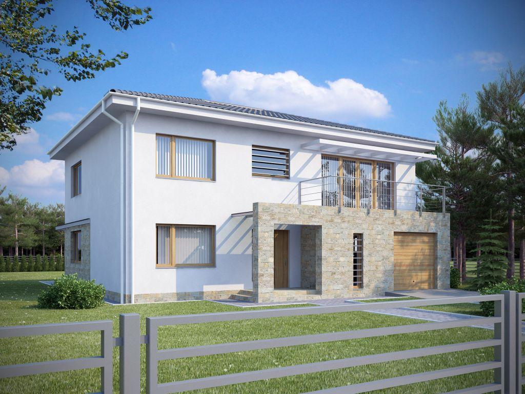Двухэтажные дома из пеноблоков фото